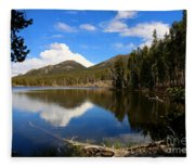 Dreamy Lake In The Rockies Fleece Blanket