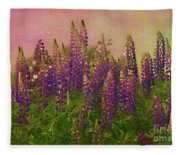 Dreamy Lupin Fleece Blanket