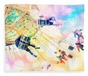 Dreamy Pastel Carnival Fleece Blanket