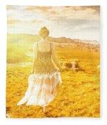 Dreamy Summer Fields Fleece Blanket