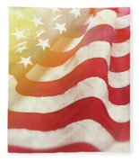 Dreamy Usa Flag 1 Fleece Blanket