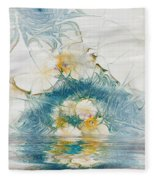 Dreamy World In Blue Fleece Blanket