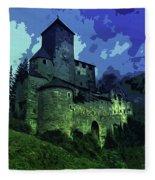 Dreary Fortress Fleece Blanket