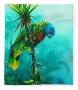 Drenched - St. Lucia Parrot Fleece Blanket