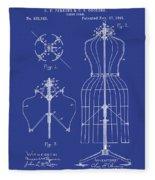 Dress Form Patent 1891 Blue Fleece Blanket