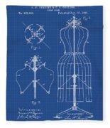 Dress Form Patent 1891 Blueprint Fleece Blanket