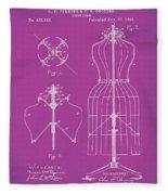Dress Form Patent 1891 Pink Fleece Blanket