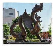 Drexel University Dragon - Philadelphia Pa Fleece Blanket