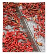 Dried Chili Peppers Fleece Blanket