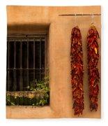 Dried Chilis And Window Fleece Blanket