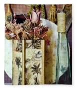 Dried Floral Still Fleece Blanket