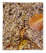 Dried Leaf On The Fern Fleece Blanket