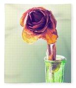 Dried Rose Fleece Blanket