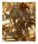 Dried Safflower Fleece Blanket