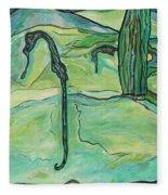 Drifting Seahorse Fleece Blanket