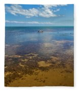Driftwood At Low Tide In Key West Fleece Blanket