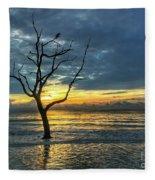 Driftwood Beach Sunrise Jekyll Island Georgia Fleece Blanket