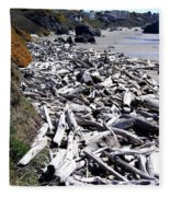 Driftwood By The Ton Fleece Blanket