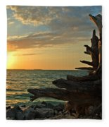Driftwood Sunset Fleece Blanket