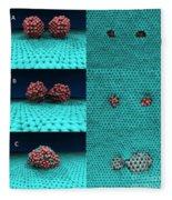 Drilling Of Graphene Nanoparticles Fleece Blanket