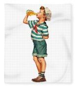 Drink Up Sailor Fleece Blanket