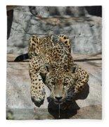 Drinking Jaguar Fleece Blanket