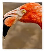 Dripping Flamingo Fleece Blanket
