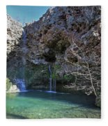 Dripping Springs Falls Fleece Blanket
