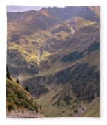 Drive In The Mountains Fleece Blanket