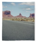 Driving Monument Valley Fleece Blanket