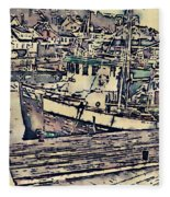 Drobak Harbor Fleece Blanket
