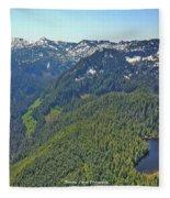 Drone Shot Of Lake Evan Fleece Blanket
