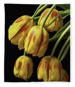 Drooping Tulips Fleece Blanket