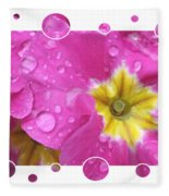 Bubbly Pink Raindrops  Fleece Blanket