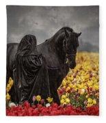 Druids In The Fields Fleece Blanket