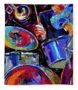 Drums And Friends Fleece Blanket