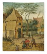 Drunkard Being Taken Home From The Tavern By His Wife Fleece Blanket