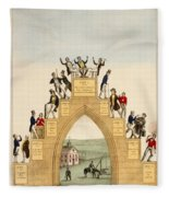 Drunkards Progress, 1846 Fleece Blanket