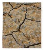 Dry Cracked Lake Bed Fleece Blanket