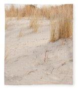 Dry Dune Grass Plants Fleece Blanket