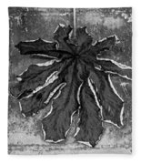 Dry Leaf Collection Bnw 1 Fleece Blanket