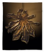 Dry Leaf Collection Digital  Fleece Blanket
