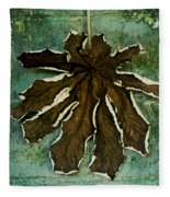 Dry Leaf Collection Wall Fleece Blanket