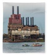 Dte Power Plant  Fleece Blanket