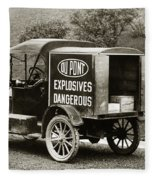 Du Pont Co. Explosives Truck Pennsylvania Coal Fields 1916 Fleece Blanket