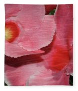 Dual Beauty In Pink Fleece Blanket