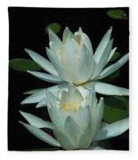 Dual Lilies Fleece Blanket