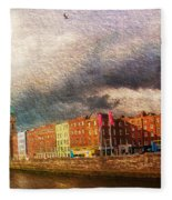 Dublin's Fairytales Around  River Liffey 2 Fleece Blanket