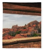Dubrovnik City In Southern Croatia Fleece Blanket