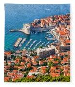 Dubrovnik From Above Fleece Blanket